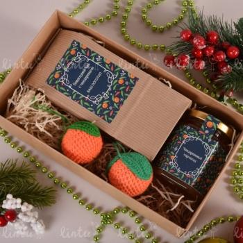 Вкусный мандариновый подарок | Купить новогодние корпоративные подарки | Корпоративные подарки на 23 февраля | Детские подарки оптом | Новог