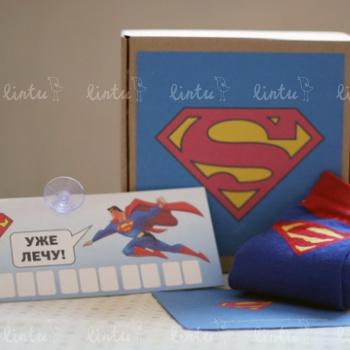Набор Супермена | Корпоративные подарки с логотипом | Корпоративные подарки на 8 марта | подарки на день нефтяника | Детские подарки оптом