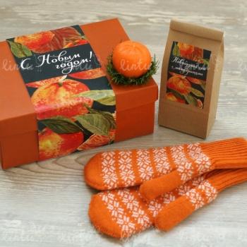 Новогодний набор с мандаринами | Купить корпоративные подарки | Корпоративные подарки на 23 февраля | Подарки на день железнодорожника | Нов